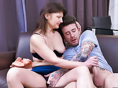 Long and hard dick blown by horny lonely mature lady