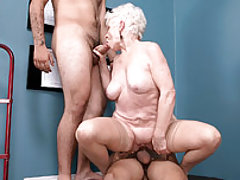 60something Jewel's Threesome With Two 20somethings